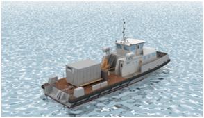 Chalands Multi Missions de la Marine Nationale par Alternatives Energies