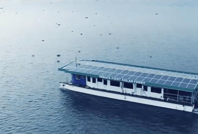 Nos réalisations : Aditya ferry solaire en Inde